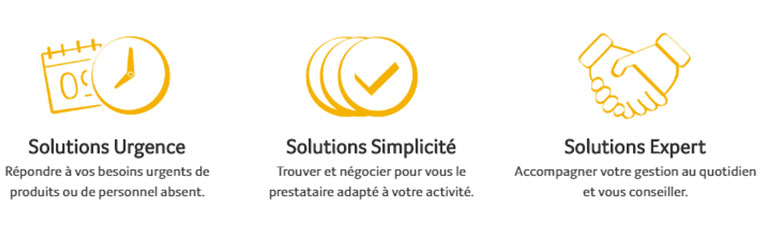 3 solutions au choix - Transgourmet Solutions