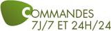 Commandes 7j/7 24h/24